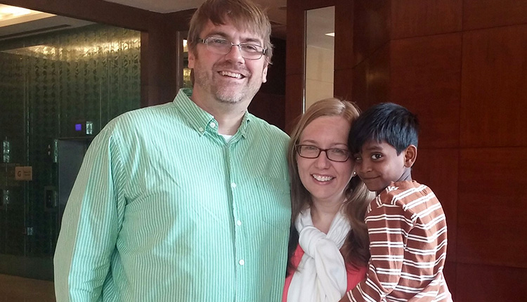 Welcome Home from India, Westrom Family!