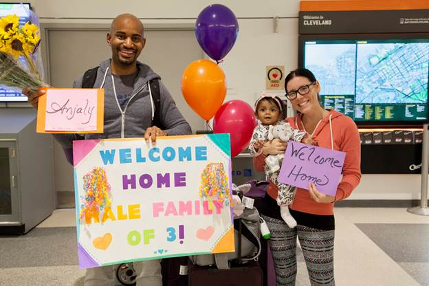 Welcome Home From India, Hale Family!