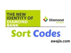 diamond bank sort code