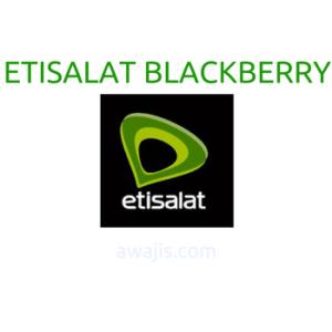 etisalat blackberry data plan
