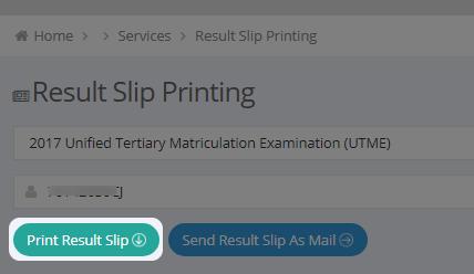 original result printing page