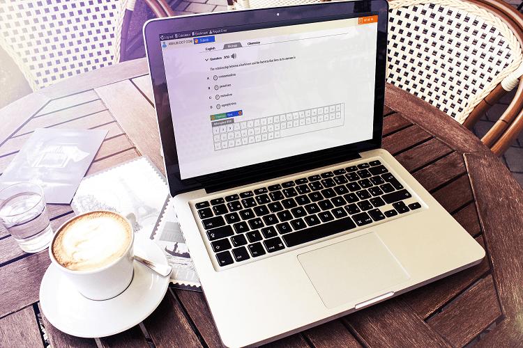 jambcbt software on a laptop