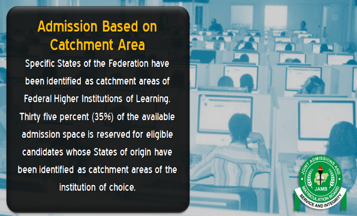 admission on catchment area