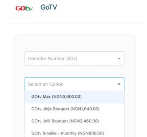 subscribe gotv using quickteller