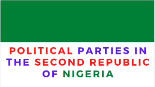 List of Political Parties in the Second Republic of Nigeria