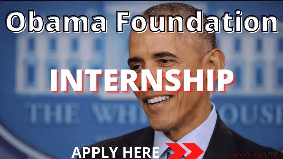Obama Foundation Internship