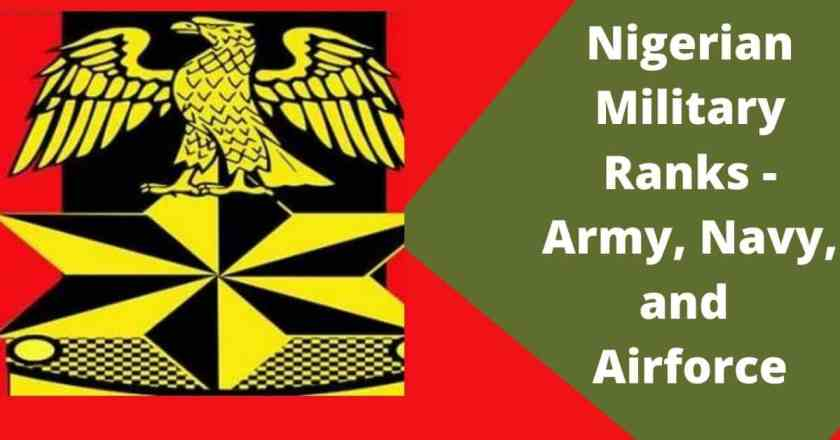 Nigerian Military Ranks - Army, Navy and Airforce
