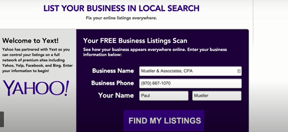 How to Add Business Listing to Yahoo