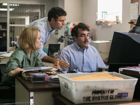 Rachel McAdams, Mark Ruffalo, and Brian d'Arcy James in Spotlight