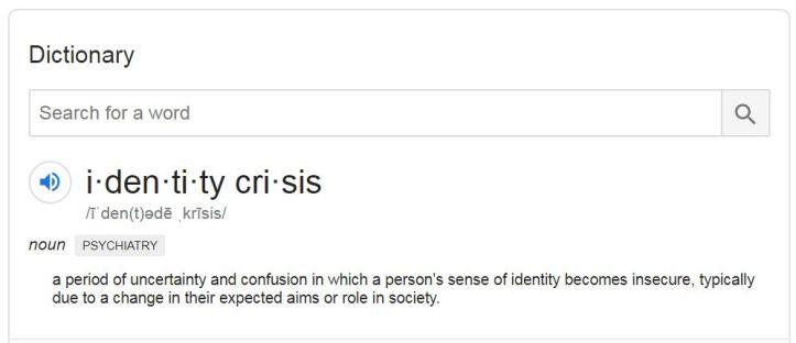 Identity Crisis Definition