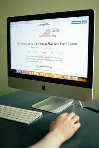 Coronavirus map of California, Turn Off the News
