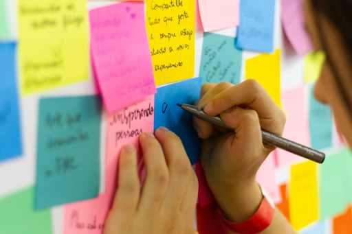 colorful sticky notes full of self improvement ideas
