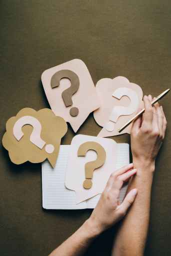 many (paper) question marks come up while seeking to get ahead in life