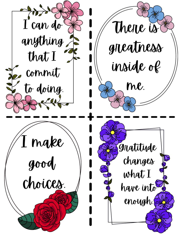 print these affirmations for confidence cards and keep them with you