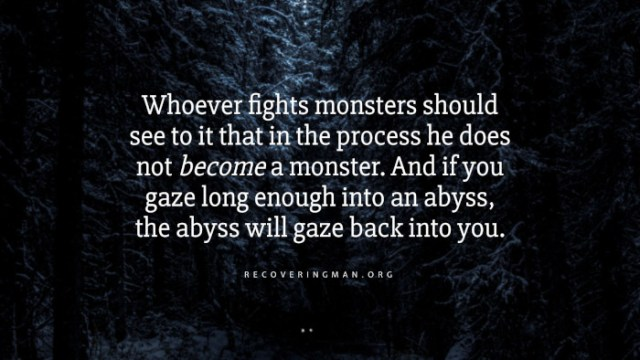 Nietszche quotes - Whoever fights monsters should see to it that in the process he does not become a monster