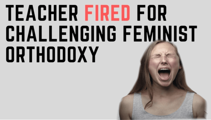 Watch: Teacher Fired for Offering a Positive View of Masculinity