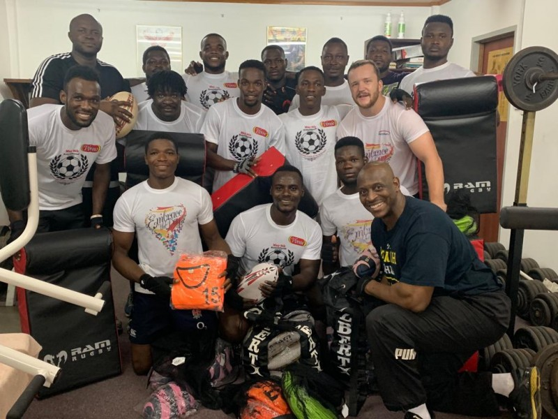 UK Friends of Ghana Rugby Donate Kit and Equipment