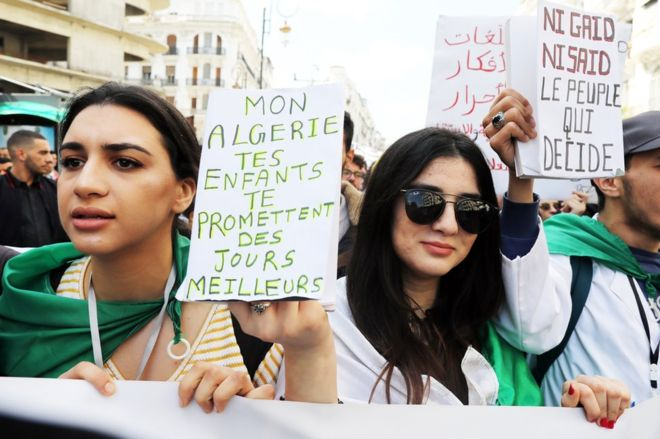 Young Algerians say goodbye to the man in power for their entire lives