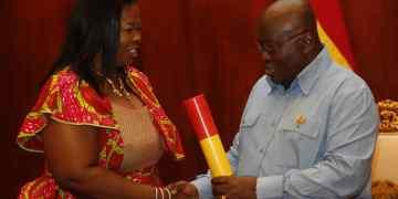 Evelyn Ama Kumi Richardson and Nana Addo