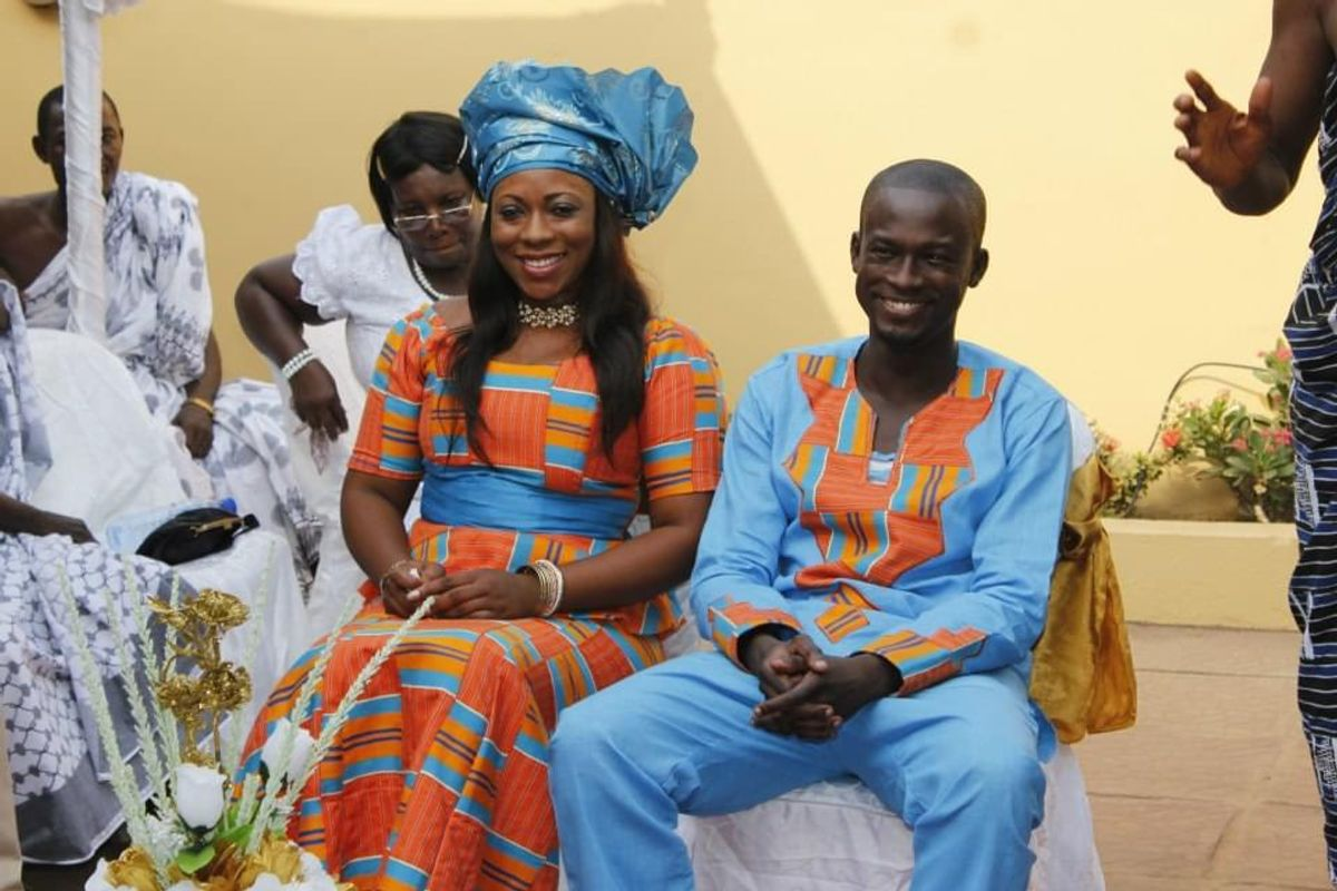 Eugene Arhin and his wife