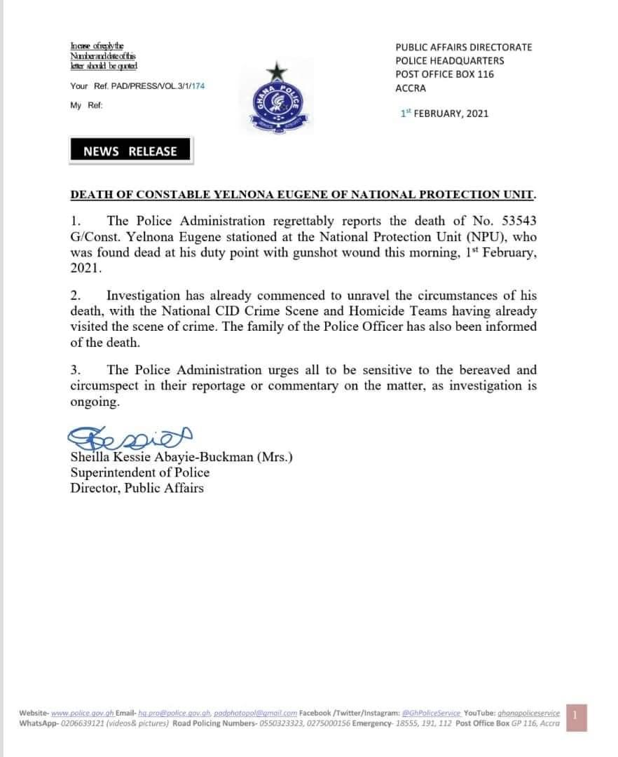 police on yelnona death