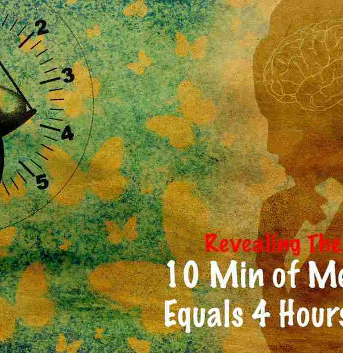 10 minutes meditation is equal 4 hours sleep