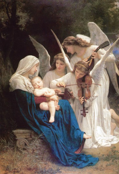 "Image: ""The Virgin of the Angels,"" by William-Adolphe Bouguereau, 1881, in Wikimedia Commons, public domain."