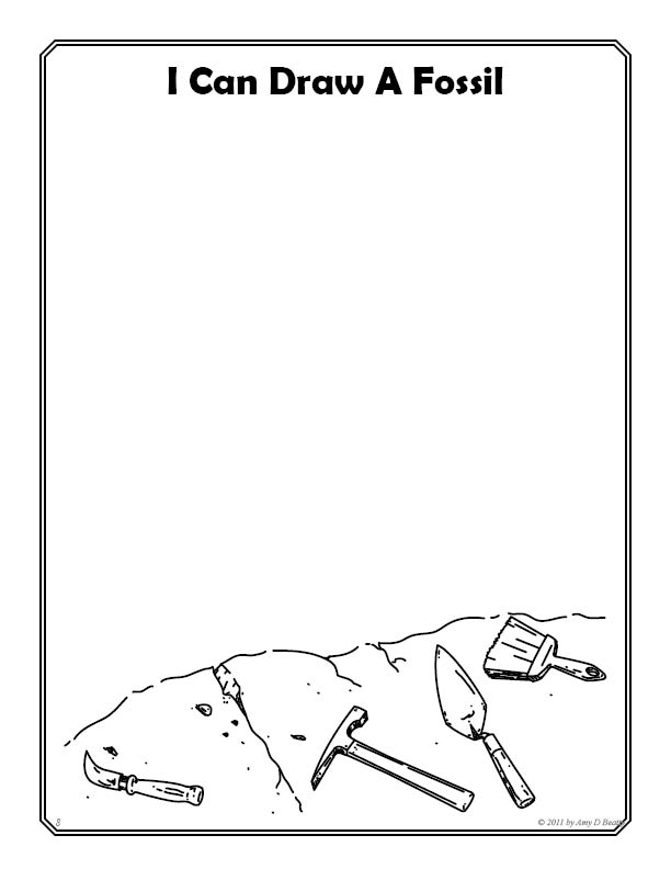 Fossils: Fossils Coloring Pages