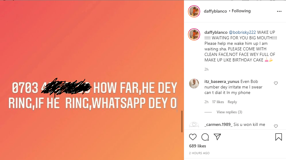 If not for Tonto you would still be a nobody, you will always be a man with your fake bum pads - Daffy Blanco slams Bobrisky after he denied knowing her 2