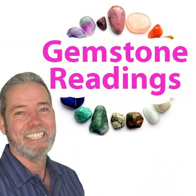 Gemstone Reading - Audio Email with Photo of Gemstone Layout