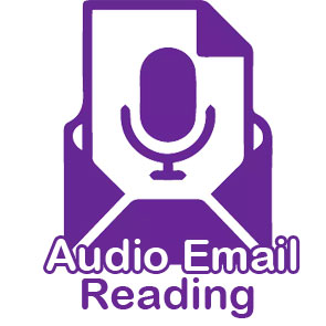Audio Email Readings