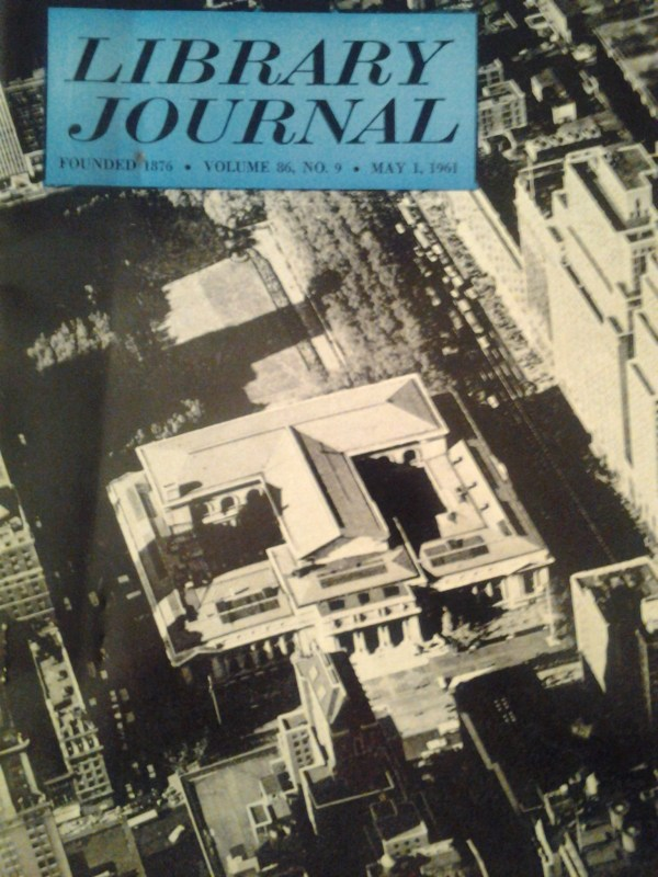 Library Journal 19601961 AW Alexander