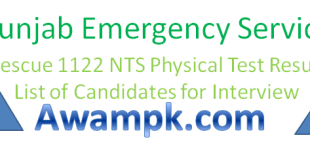 NTS Physical Test Result of Rescue1122