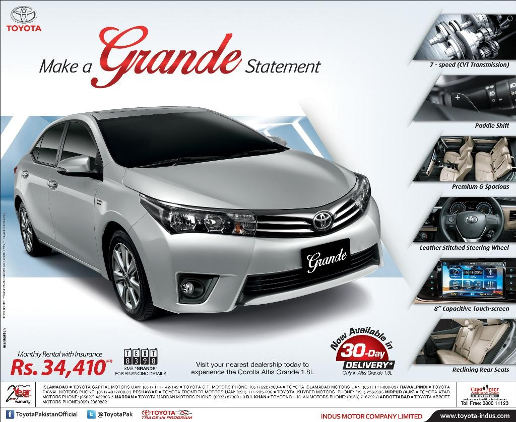 new corolla altis grande grand avanza abs toyota car model  awam pk current fast