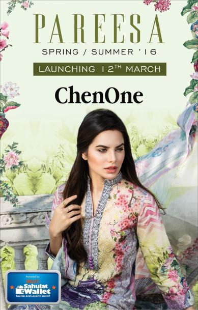 Chen One Pareesa Lawn Collection 2016
