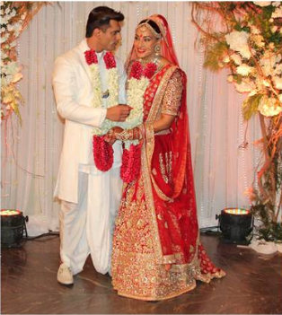 Bollywood actress Bipasha Basu, Karan Singh wedding pics