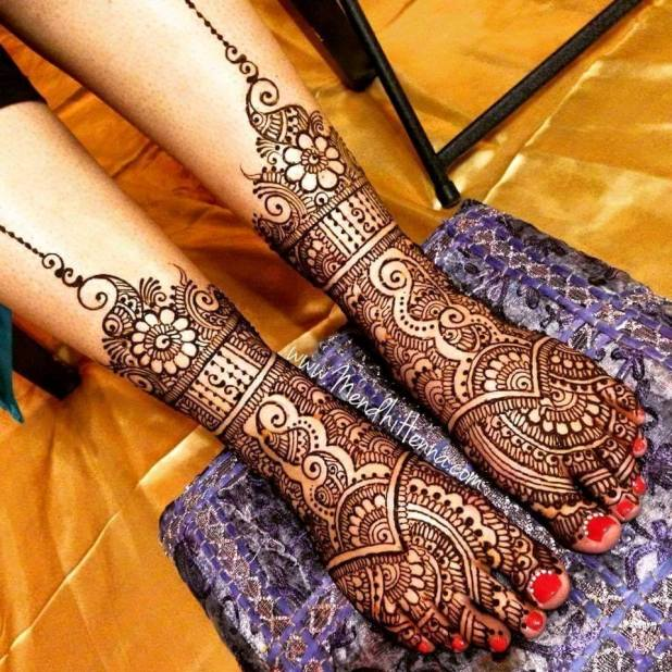 lovely-mendi-desings for feets 2016
