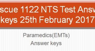 rescue 1122 nts test answer keys