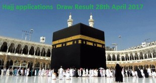 Ministry of Religious Affairs Hajj applications Draw 2017