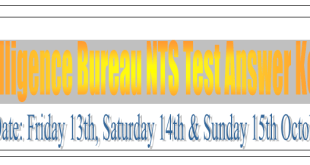 Intelligence Bureau NTS Test Answer Keys
