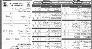 NAVTTC UNHCR Pakistan Skill Development Free Training Short Courses Program 2017