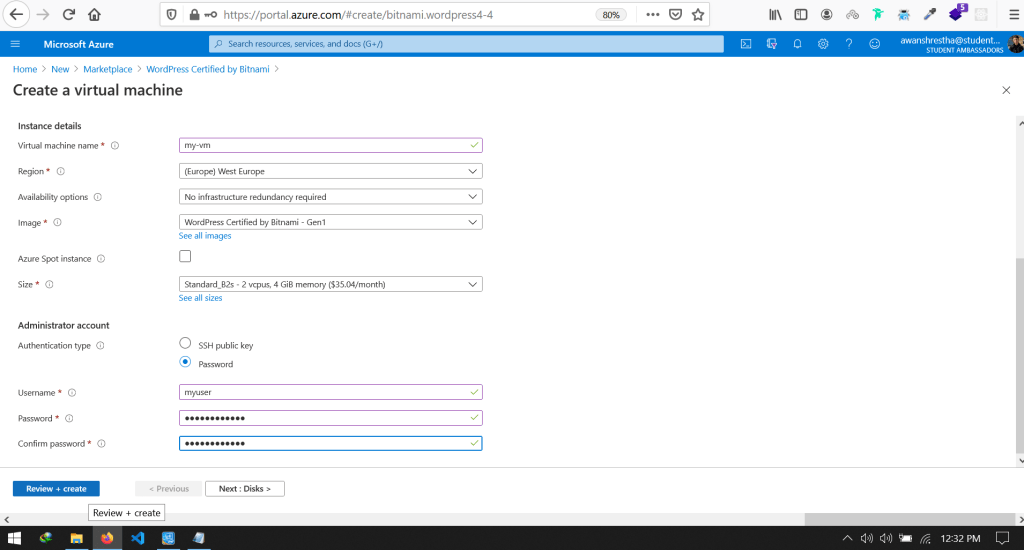 Host WordPress website on Azure and Connect to Custom Domain (2)-min