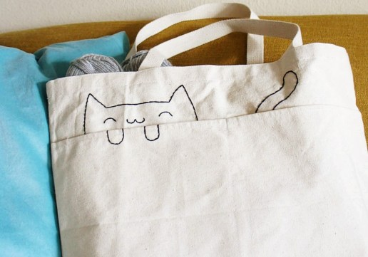 DIY-Embroidered-Cat-Tote-Bag-7-1000x700