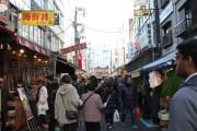 The narrow alleys of Tsukiji