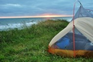 Camping on the pacific west coast, USA, 2013.
