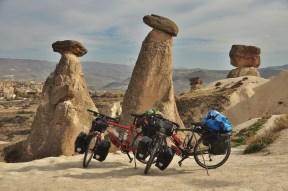 Our bikes enjoying Cappadocia, Turkey 2014.