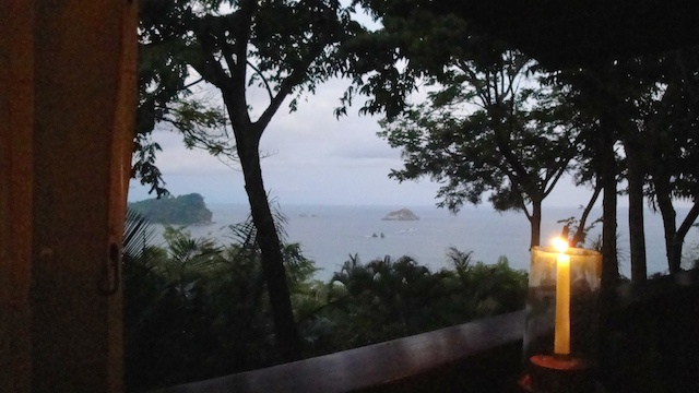 The view from a restaurant on the hill.