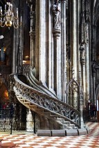 Staircase inside Stephansdom Cathedral, Vienna