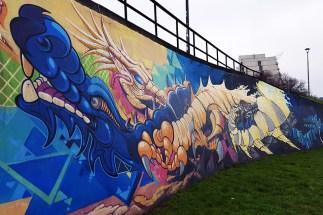 Street Art on the Banks of the Vistula River