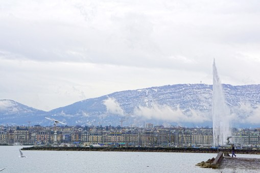 Geneva's Old Town and the Jet D'eau